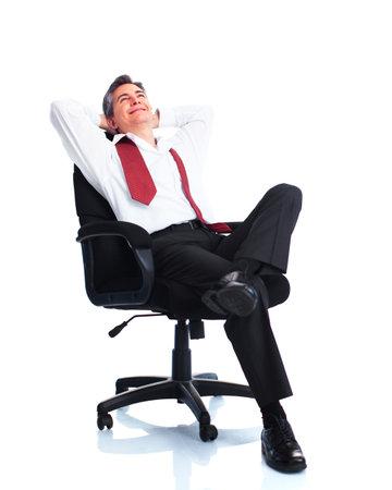 financial executive: Relaxing businessman