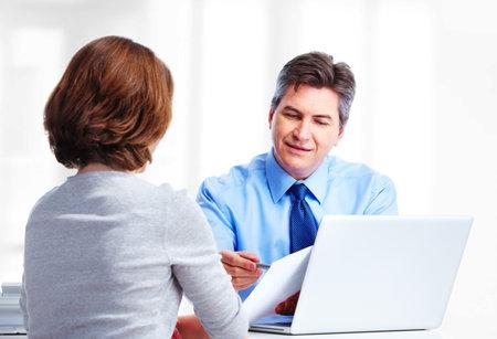 happy client: Executive businessman  Stock Photo