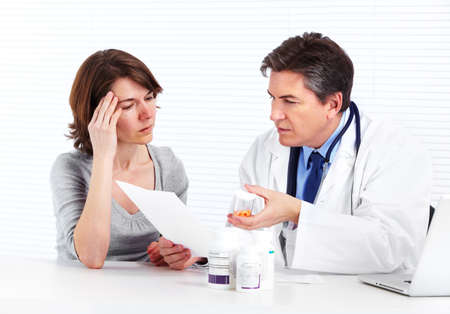 Doctor and patient woman