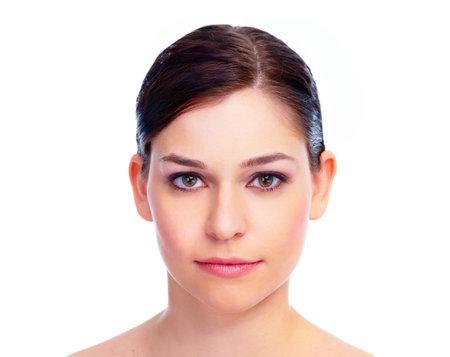 face to face: Beautiful woman face