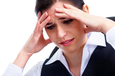 Woman having  headache  Stress