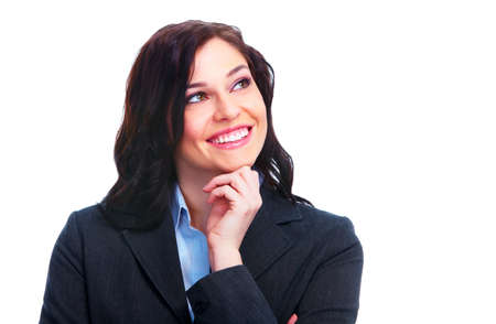 Young thinking business woman  photo