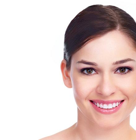 Beautiful woman face  Smile  Stock Photo