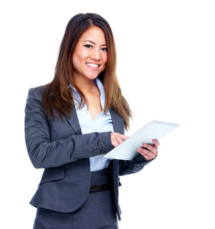 Asian business woman with tablet computer  photo