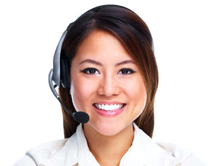 Call centre operator  Chinese businesswoman Stock Photo - 13202501