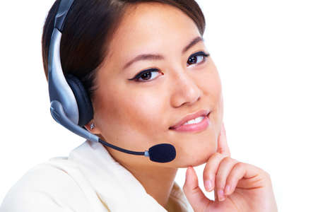 Call centre operator  Chinese businesswoman Stock Photo - 13202534