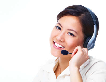 Call centre operator  Chinese businesswoman  Stock Photo - 13202490