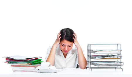 Young business woman having a stress