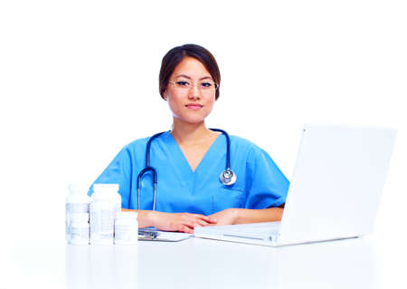 chinese medical: Chinese medical doctor woman