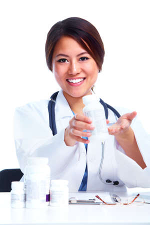 Chinese medical doctor woman