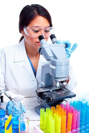 Scientific woman working in laboratory