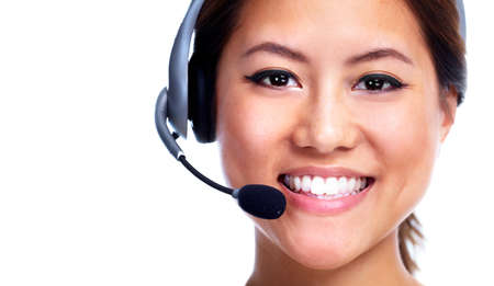 Call centre operator  Chinese businesswoman Stock Photo - 13232754