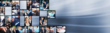 Business people team collage Banco de Imagens - 13232793