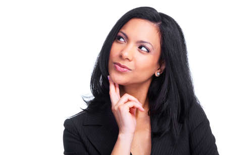 Thinking business woman  Stock Photo - 13288651
