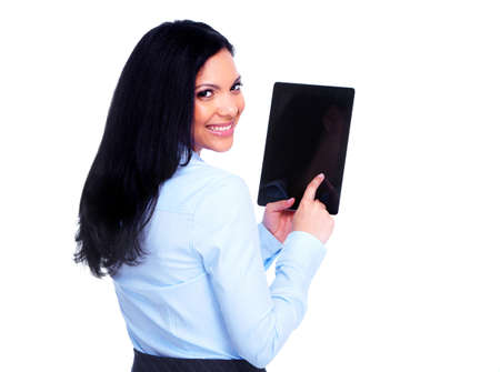 tablet: Business woman with tablet computer  Stock Photo