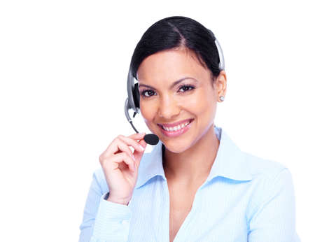Call center operator business woman