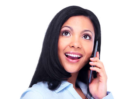 Woman calling by phone Stock Photo - 13288449