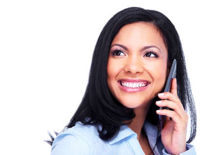 Woman calling by phone Stock Photo - 13288652