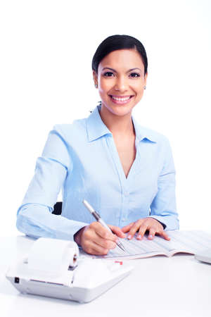 Accountant business woman  Stock Photo - 13288430