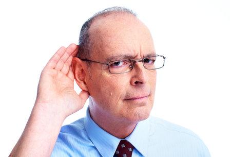 hearing aid: Deaf man