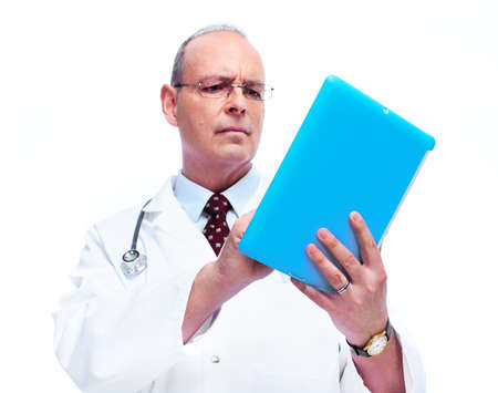consulting room: Doctor with tablet computer