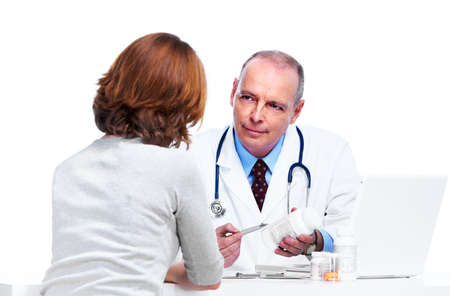 doctor stress: Doctor and patient woman