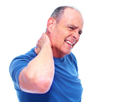 senior man on a neck pain: Neck pain