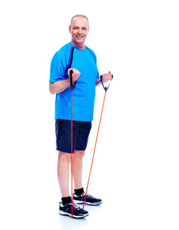 senior fitness: Fitness man