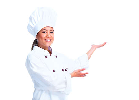 chefs show: Young chinese chef woman