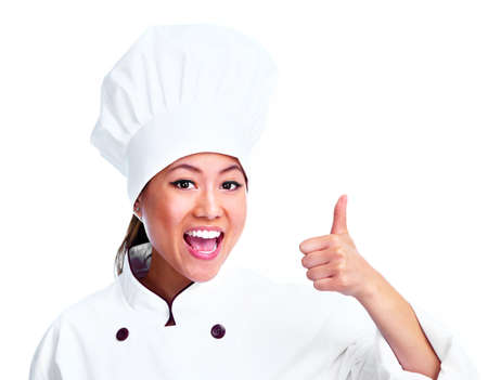 restaurant staff: Young chinese chef woman