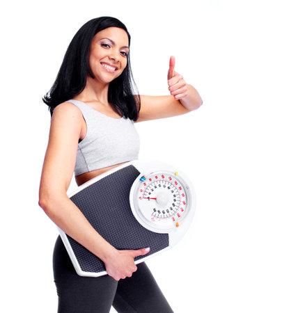 gordo y flaco: Mujer con escalas