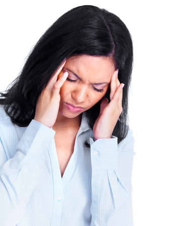 Woman having a headache Stock Photo - 13388326