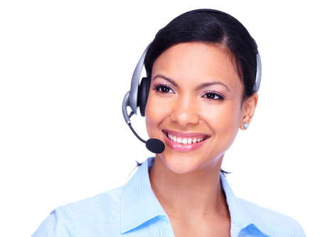 representative: Call center operator business woman