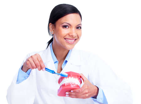 dental nurse: Doctor dentist woman  Stock Photo