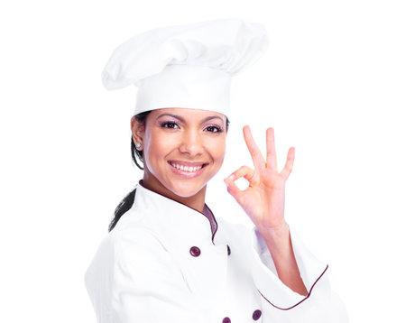 chef: Chef woman  Stock Photo