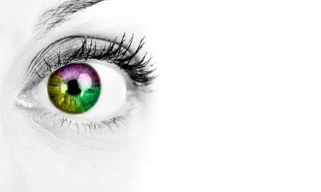 examen de la vista: Mujer ojo