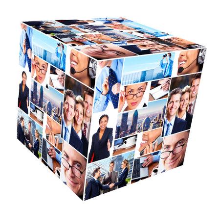 Groupe de gens d'affaires collage Banque d'images - 13541514