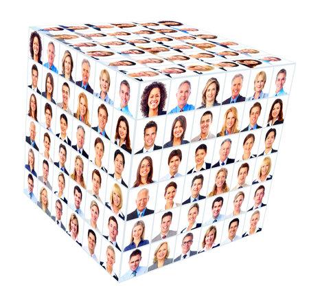 grupo de personas: Conjunto de personas de negocios de los trabajadores