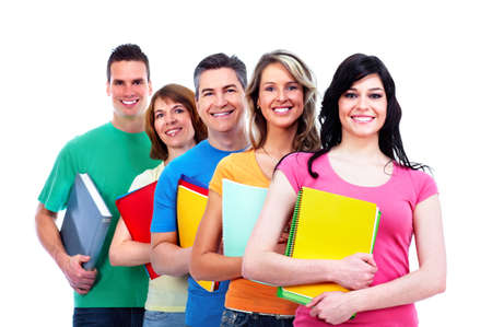 Group of happy students  Stock Photo - 27257940