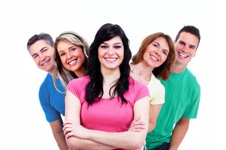 uomo felice: Gruppo di persone felici