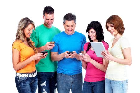 Gruppe von glücklichen Menschen Standard-Bild - 13598431