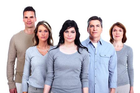 familia unida: Grupo de gente feliz