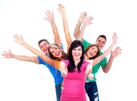 solidaridad: Grupo de gente feliz