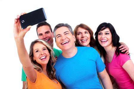 foto: Groep van gelukkige mensen