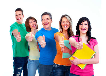 Group of students teens Stock Photo - 13598426