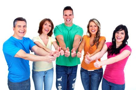 jugendliche gruppe: Gruppe von gl�cklichen Menschen Lizenzfreie Bilder