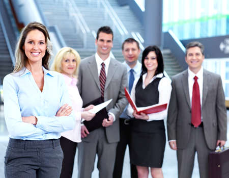 Business woman and a people group Stock Photo - 13620463