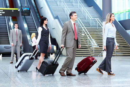 airport people: Group of business people at the airport  Stock Photo
