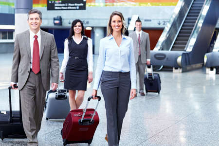 business airport: Group of business people at the airport  Stock Photo