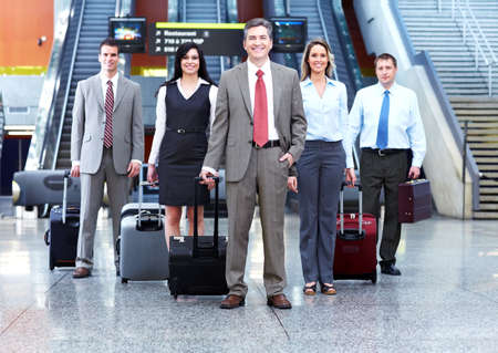 Group of business people at the airport Stock Photo - 13620446
